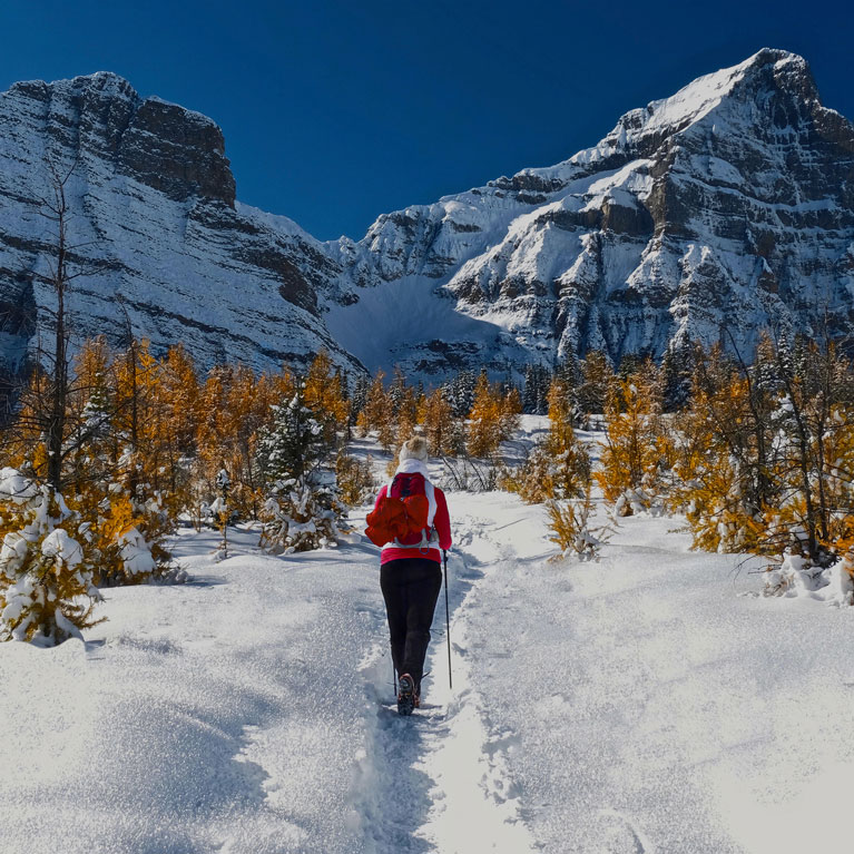 Hiking in the Mountains in Winter | Outdoor Adventure Image