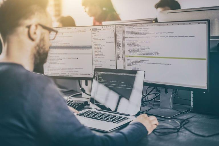 PaaS Image | Software Developer Coding at Workstation