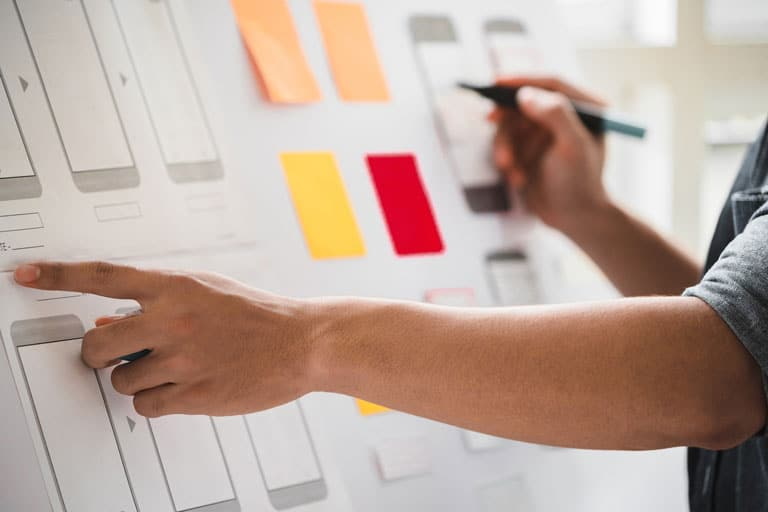 Customer Experience Image | UX Designer Creating Wireframe