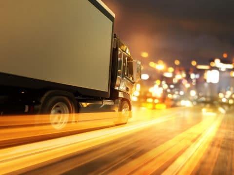 Transportation & Logistics Truck at Night
