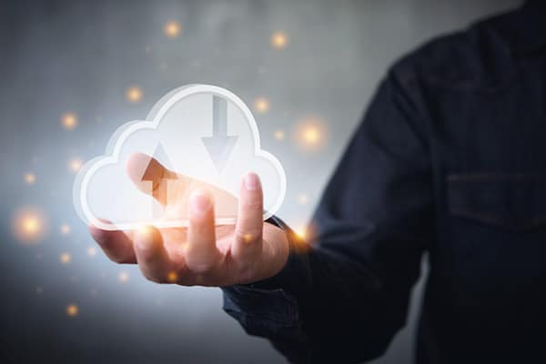Cloud Migrations Image | Cloud Presented by Outstretched Hand
